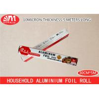 Quality 100g-102g/ Roll Aluminium Foil Paper Roll Safe Material 30cm X 10 Micron X 5m Size for sale