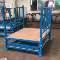 Quality Powder Coating Folding Stacking Pallet Rack With Wooden Sheet 3 Layer for sale