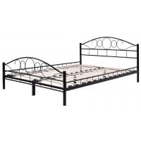 Quality Durable Metal Frame Bed / Steel Frame Bed With Wood Slat Contemporary Bedroom Furniture for sale