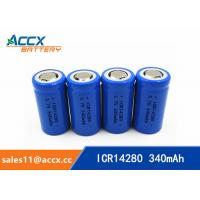 Buy cheap high quality icr14280 LED Lighting lithium battery 3.7V 340mAh 14280 rechargeabl from wholesalers