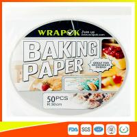 Quality Round Silicone Baking Paper Sheets , Greaseproof Non Stick Paper For Baking for sale