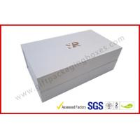 Quality Rectangle Silver Rigid Gift Boxes , Handmade Magnetic Gift Box Color Customized for sale