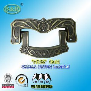 Buy cheap Ref H008 19 x 11 cm Zinc Alloy Metal Coffin Handles  Casket Handle Antique bronze color product