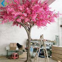 China Large Artificial Flower Tree , Pink Bougainvillea Flower Tree For Wedding Party on sale