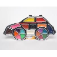 Buy 12 water color car-shaped painters set with paint brush at wholesale prices