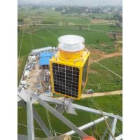 China GSM Monopole Transmission Tower Photocell Flash Solar Power gps Medium Intensity single solar aviation obstruction light on sale