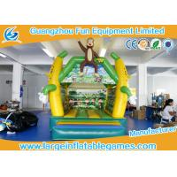 Quality 4*3m PVC Tarpaulin Inflatable Monkey Bouncer Inflatable Jumping Area house for sale