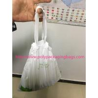 Quality HDPE / LDPE Clear Drawstring Plastic Bags For Supermarket / Hospital for sale