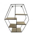 Quality Floating Shelf iron MDF Wall Art Geometry Shelves Wood Rustic Shelf for sale