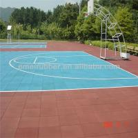 Quality hard-wearing standard basketball court made from 100% rubber granules for sale