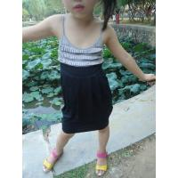 Quality Classy Summer Lovely Girls Pleated Dress , Black Girls Spaghetti Strap Dress for sale