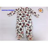 China Rabbit Applique Embroidery Baby Boy Pram Suit Crew Neck All Over Print Coverall on sale