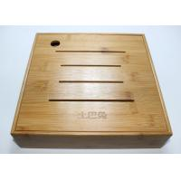 Quality Custom Square Gift Packaging Bamboo Display Box, Wooden Tea Storage Box With 4 Compartments And Lids for sale