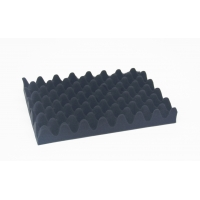 Quality Egg foam for packaging box protection wave black foam use in case or box for sale