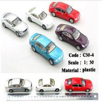 China 1:75 scale ABS plastic model painted car toy for architectural miniature kits on sale