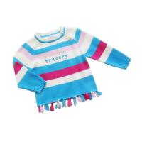 Quality Colorful Stripe Round Neck knitted baby clothing, Children Chunky Knit Sweater With Cotton for sale