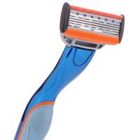 Quality Blue color Ladies shaver removable shaving 6 blade razor for woman for sale