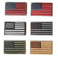 Quality Hot polyester customized colorful Embroidered Tactical USA Flag Patch for sale