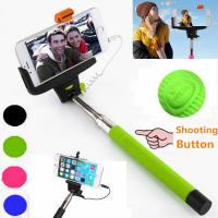 China 3.5mm earphone plug Wired Selfie Stick Support IOS / Android System on sale