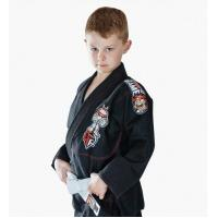 Quality Custom Black BJJ Gi Kimono Martial Arts Suit / Karate Clothes For Kids for sale