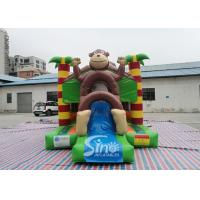 Quality Outdoor kids commercial jungle monkey inflatable combo in monkey theme park for jumping from Sino factory for sale