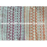 China Customized 100 Cotton Mesh Net Lace Fabric Eco - Friendly Dyeing For Lady Dress on sale