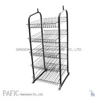 portable_strong_style_color_b82220_metal_strong_steel_strong_style_color_b82220_wire_strong_display_stands_five_tier_for_food_beve free standing wire display racks on wire basket shelves