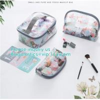 Buy cheap Travel Luggage Pouch Custom Clear Transparent PVC Travel Toiletry Bag Make Up from wholesalers