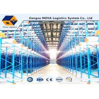Buy cheap Selective Heavy Duty Shuttle Metal Pallet Racks Remote Controlled For Frozen Meat Storage product
