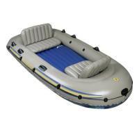 Buy cheap 4 Person Excursion PVC Inflatable Boat With 2 Fishing Rod , 4 Set Oars product