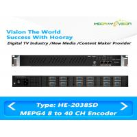 Quality MEPG4 H.264 SD Network Live Media IP Digital TV Encoder 8 to 40 Channel HE-2038SD for sale
