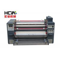 Quality Automatical Roll To Roll Heat Transfer Printing Roller Press Machine Red + Grey for sale