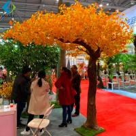 Garden Autumn Ginkgo Biloba Plant For Home Decoration Artificial Materials for sale