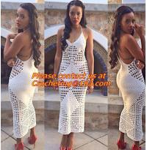 100% Cotton Handmade Crochet Dresses Elegant Club Wear Sexy Fashion Off Shoulder