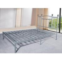 Buy cheap Heavy Duty Silver Metal Single Bed Frame Metal Bedroom Furniture Powder Coating product