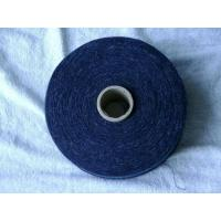 Quality Blue Regenerated Cotton Poly Yarn with Hair for sale