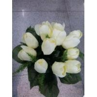 Quality Red / Yellow / Blue white Cloth Articial flowers for Decoration for sale