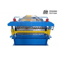 China Corrugated / IBR Double Layer Roll Forming Machine PLC Control For Construction on sale