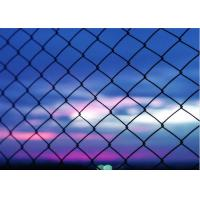 China Heavy Duty 5 Green Vinyl Chain Link Fence With 2 Inch Aperture 3 FT Tall on sale