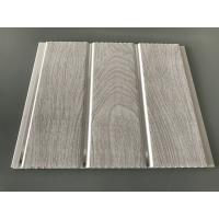 Buy cheap Double Middle Groove 25cm Decorative PVC Panels With Wooden Printing from wholesalers