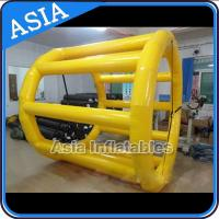 Quality PVC Tarpaulin Inflatable Yellow Water Roller for Kids Pool Water Games for sale