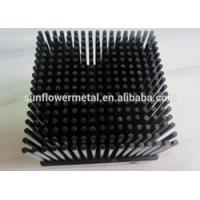 China Low price customized black anodized 1070 aluminum cold forging pin fin heat sink manufacturing on sale