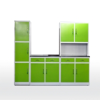 Quality Flat Pack RAL Color H1920mm Steel Kitchen Cabinet for sale
