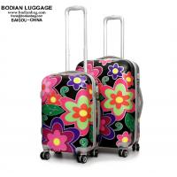 China 20'' 24'' 28'' 3-piece set ABS+PC film hard shell spinner wheeled luggage suitcase on sale