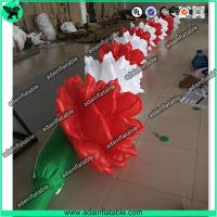 Quality 10m Inflatable Rose Flower Chain For Wedding Decoration for sale