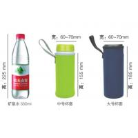 Quality Pink / Green Neoprene Can Cooler , Thermo Insulated Water Bottle Holder Bag With Handle for sale