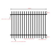 Buy cheap 2016 Good quality colors house gate designs and Wrought iron fence / steel fence. from wholesalers