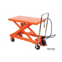 Quality Luxury Pneumatic Lift Table , Hydraulic Scissor Table Truck 750Kg 16501b Load Capacity for sale