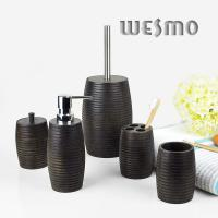 Quality 5 Piece Wood Classic Complete Bathroom Sets for Home Decoration for sale