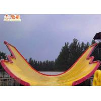 Quality Amusement Water Park Fiberglass Water Slide Smooth Corrosion Resistance for sale